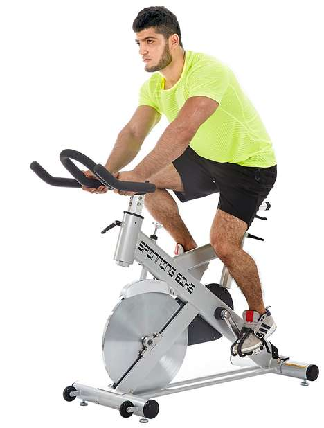 Smartphone-Connected Exercise Bikes - This ESMARTGYM Indoor Exercise Bike Tracks Your Workout