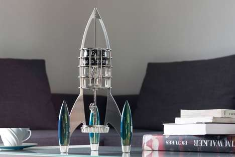 Luxury Spaceship Clocks - The MB&F 'Destination Moon' Desk Clocks are Inspired by Space Travel