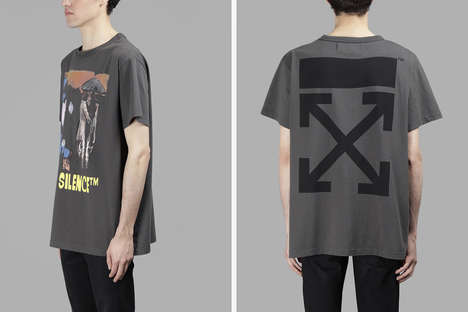 Distressed Co-Branded Fashion - The New Antonioli and OFF-WHITE Collection Features Ripped Styles