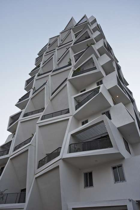 Refracted Apartment Balconies - Ishatvam 9's Balcony Looks Like an Underwater Distortion