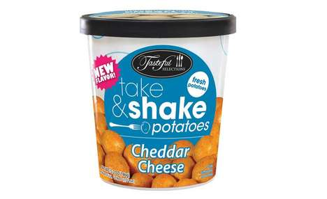 On-the-Go Potato Cups - The Tasteful Selections Take & Shake Cheese Potatoes are Fast to Prepare