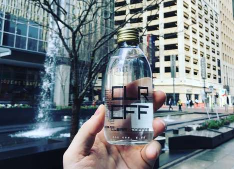 Crystal Clear Bottled Coffees - 'CLR CFF' is a Clear Beverage Made from Arabica Beans