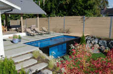 Shipping Container Pools - The 'Modpool' Shipping Container Pools are Capable of Being Moved