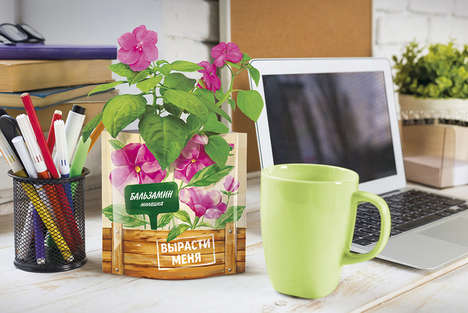 Plant Pot Pouches - Happy Plant's Cultivation Kits Boast Flowers Grow Right Out of the Package