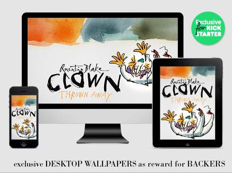 Animated Illustration Books - 'Clown Thrown Away' is Based on Sir Quentin Blake's Illustrative Story