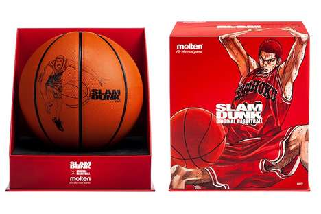 Manga-Inspired Basketballs - The New molten 'SLAM DUNK' Basketball Features Hanamichi Sakuragi