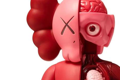 Exposed Anatomy Artist Toys - These New KAWS Figurines are Available in a 'Blush' Colorway