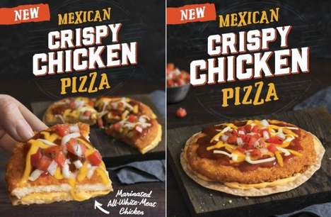 Taco Brand Pizza Dishes - The Taco Bell Crispy Chicken Mexican Pizza Expands the Brand's Offerings