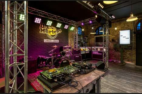 Concert-Ready Retail Stores - This New Dr. Martens Store Boasts an Interactive Space for Gigs