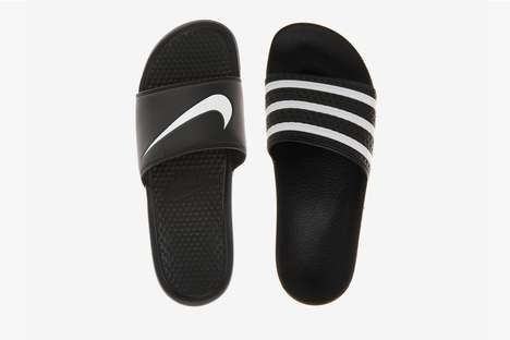 Unofficial Co-Branded Sandals - These Nike and adidas Slides Were Created by Shirt NYC