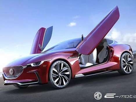 Butterfly Door English EVs - The MG E-Motion Previews a Sportier Future for the Iconic British Brand