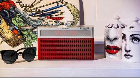 Retro Design Speaker Units - The Geneva Labs Touring S Portable HiFi Speaker Streams Flawless Audio