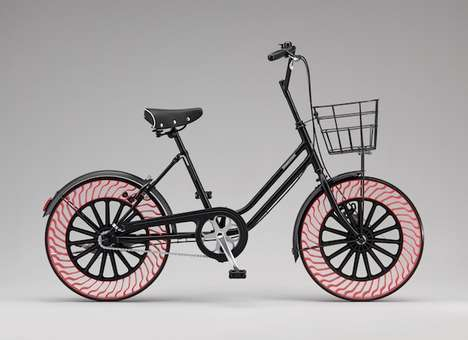 Airless Bicycle Tires - Bridgestone's Airless Tires Do Not Need to Be Inflated