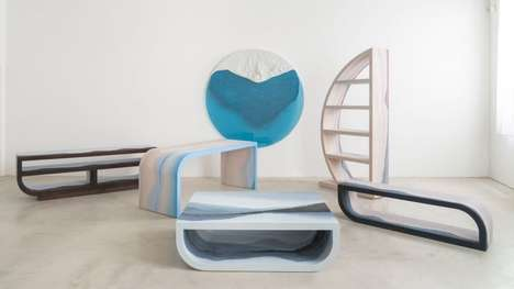 Crystalline Landscape Furniture - The 'Escape' Furniture Decor Series Features Mimicked Landscapes