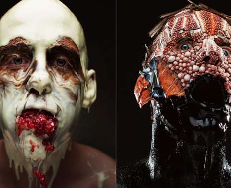 Disturbing Menu-Inspired Portraits