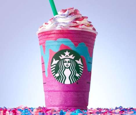 Color-Changing Blended Beverages - The Starbucks Unicorn Frappuccino will be Available for Five Days