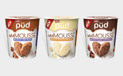 Indulgent Airy Mousse Desserts - The Müller 'Püd mmMousse' Mousse Desserts are Light and Satisfying