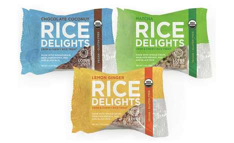 Fiber-Rich Rice Treats - The Lotus Foods Organic Rice Delights are Made with Wholesome Ingredients