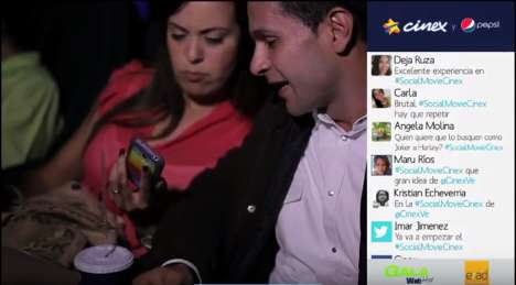 Interactive Social Cinemas - Cinex Lets You Tweet Live on the Big Screen While Watching a Movie