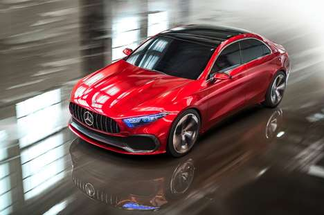 Free-Flowing Compact Luxury Cars - The Mercedes-Benz Concept A Sedan Previews a New Design Language