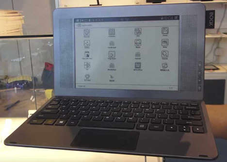 Two-in-One E-Ink Laptops - The Onyx 'BOOX Typewriter' Laptop Devices Have a Multipurpose Design