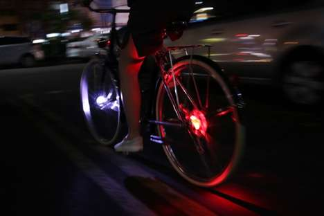 Lightweight Bike Wheel Lights - The Wheely Bicycle Light Offers Compact Nighttime Bike Safety