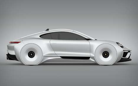 Futuristic Butterfly Door Vehicles - This Porsche 911E Concept Features a Retractable Spoiler
