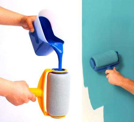Paint-Filled Wall Rollers - This Painting Roller Stores Paint and Won't Drip