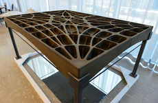 Gothic Concrete Flooring - ETH Zurich's Concrete Floor Slabs are Inspired by Catalonian Vaults