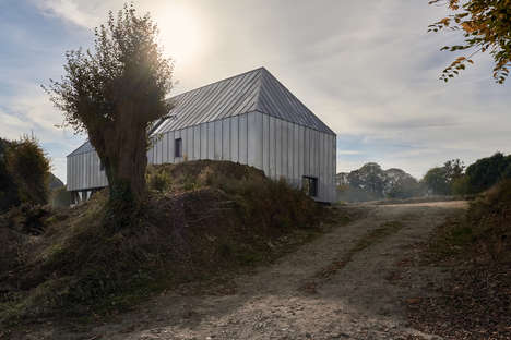 Zinc-Clad Barn Houses - Antonin Ziegler's 'The Barn' is Covered in Untreated Zinc Siding