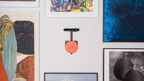Auto-Leveling Artwork Hangers - The Absolut Art 'Hangsmart' Art Hanging System is Quick and Painless