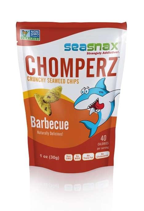 "Seasoned Seaweed Crisps - SeaSnax's 'Chomperz' are Branded as ""Strangely Addictive"" Seaweed Snacks"