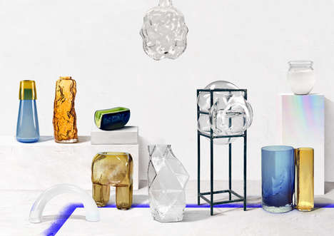 Oblong Blown Glass - OFF Portugal's Glass Cares Exhibition Features Perplexing Pieces