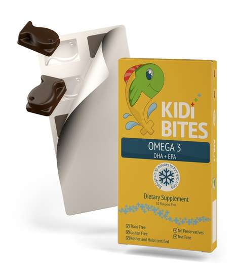 Chocolate Vitamin Supplements - The Anlit 'Kidi Bites' Omega-3 Supplements are Tasty and Nutritious