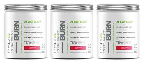 Metabolism-Boosting Workout Drinks - The PhD 'Pre-Wkt BURN' Pre-Workout Drink Features TeaCrine