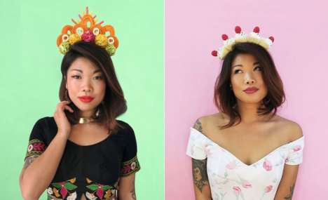 Extravagant Food Crown Portraits - Lauren Hom's Images Creatively Feature Different Food Staples
