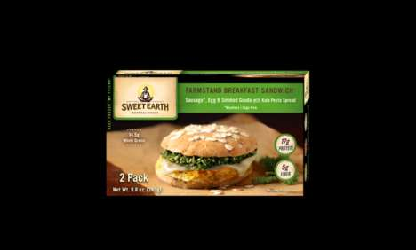 Meatless Breakfast Sandwiches - Sweet Earth Food's Frozen Breakfast Sandwiches Include Mock Meat
