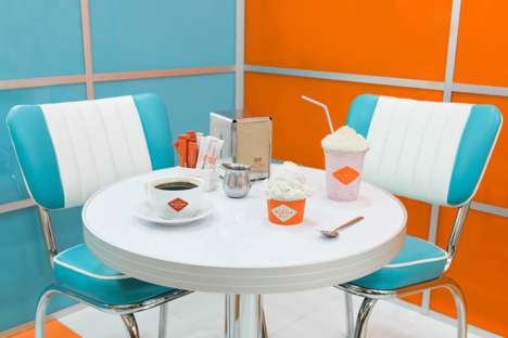 Retro-Modern Ice Cream Cafes - Winter Milk Delights as a Wes Anderson-Inspired Ice Cream Shop