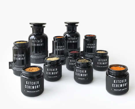 Glass Spice Jar Collections