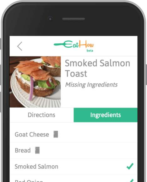 Last-Minute Recipe Apps - The Eathow App Helps You Make Meals Out of Whatever Food is Available