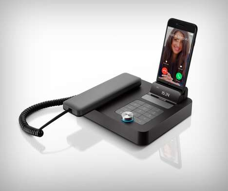 Landline Smartphone Speaker Docks - The Invoxia NVX 200 Charges Devices and Enables Teleconferencing
