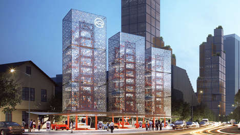 Electric Car Charging Towers - Ennead Architects' Car Charging Tower Could Replace Gas Stations
