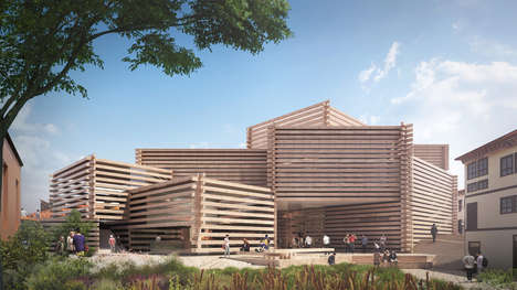 Slatted Wooden Art Museums - The Odunpazari Modern Art Museum Will Be Covered in Timber Logs