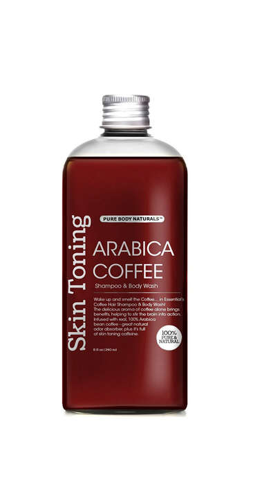 Coffee Bean Shampoos - Pure Body Naturals' Coffee Shampoo and Body Wash is Made with Arabica Beans