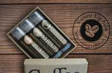 Pinwheel's Coffee Lip Balm Products are Made with Real Coffee Oil