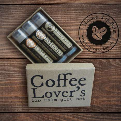 Coffee Oil Lip Balms - Pinwheel's Coffee Lip Balm Products are Made with Real Coffee Oil