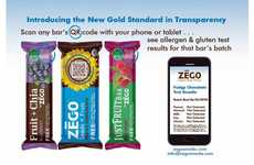 Zego's Snack Wrappers Use Codes to Show Results of Batch Tests for Allergens