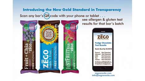 Scannable QR Wrappers - Zego's Snack Wrappers Use Codes to Show Results of Batch Tests for Allergens
