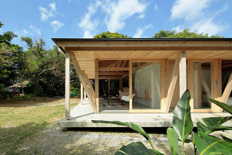 Typhoon-Resistant Timber Houses - ISSHO Architects' Okinawa House Has a Reinforced Timber Frame