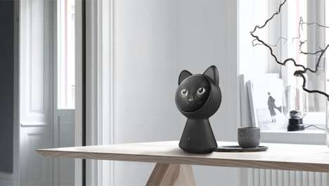 Cat-Shaped Smart Hubs - AMONG'S Apple Cat is a Pet-Inspired Concept for Smart Home Controls